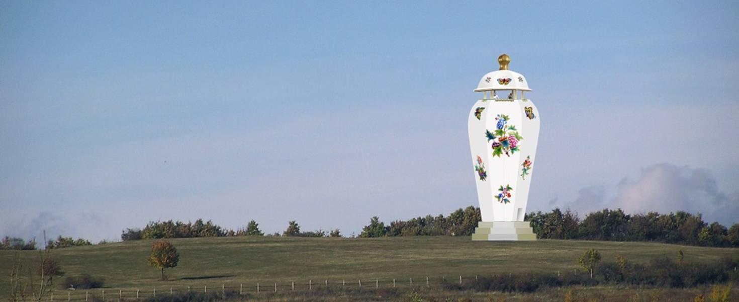 Áprilisi tréfa? Herenden porcelánváza formájú óriás kilátót építenek | 74nullanulla.hu