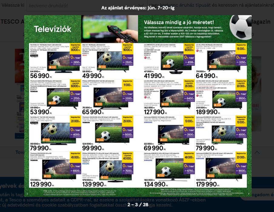 A Tesco szokásához híven egy egész akciós újságot állított össze a VB  idejére 25d2b0a621