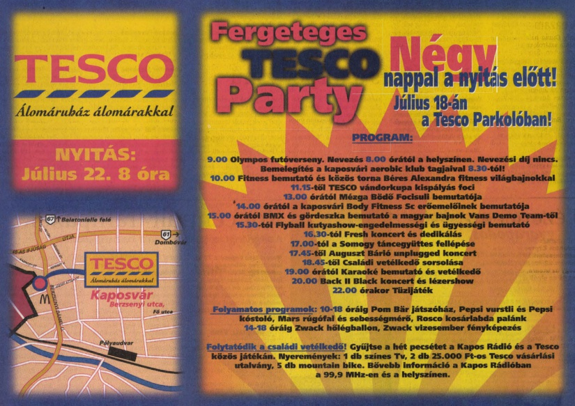 A fergeteges nyitóparty programja